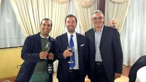 Il presidente della CCIAA di Foggia con Antonio Pisante e Gaetano Cavaliere (Domini Dauni)